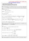 79 Bài tập Phương trình đường phẳng và đường tròn có lời giải chi tiết