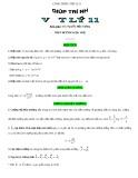 Công thức Vật lý lớp 11 - Thầy Nguyễn Hữu Cường
