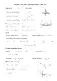 Tóm tắt công thức môn Vật lý lớp 11 học kì 2
