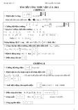 Tóm tắt công thức môn Vật lý lớp 11 học kì 1 - Thầy Nguyễn Văn Duẩn