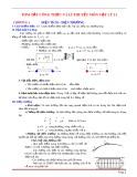 Tóm tắt công thức và lý thuyết môn Vật lý lớp 11