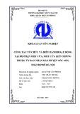 Luận văn Thạc sĩ Quản trị văn phòng: Công tác tổ chức và điều hành hoạt động tại bộ phận một cửa, một cửa liên thông thuộc Ủy ban nhân dân huyện Sóc Sơn, thành phố Hà Nội