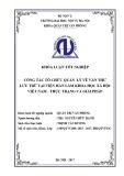 Luận văn Thạc sĩ Quản trị văn phòng: Công tác tổ chức quản lý về Văn thư Lưu trữ tại Viện Hàn Lâm KHXH Việt Nam - Thực trạng và giải pháp