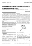 Optimum absorber parameters for rotating shafts with variable angular velocity