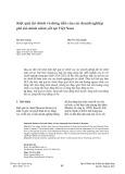 Kiệt quệ tài chính và dòng tiền của các doanh nghiệp phi tài chính niêm yết tại Việt Nam
