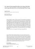 Các nhân tố ảnh hưởng đến tiếp cận tín dụng chính thức của hộ ngư dân đánh bắt xa bờ tại thành phố Nha Trang