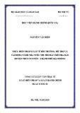 Tóm tắt Luận văn Thạc sĩ Luật Hiến pháp và Luật Hành chính: Thực hiện pháp luật về bồi thường, hỗ trợ và tái định cư khi nhà nước thu hồi đất trên địa bàn huyện Thủy Nguyên - thành phố Hải Phòng