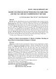 Nghiên cứu nồng độ dioxin trong máu của quân nhân làm việc tại 3 sân bay ô nhiễm dioxin ở Việt Nam