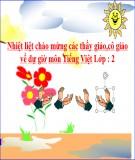Bài giảng Tiếng Việt lớp 2 - Tuần 9: Ôn tập học kì 1 (Tiết 4)