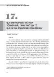 Quy định pháp luật Việt Nam về nhập khẩu trang thiết bị y tế qua các giai đoạn từ năm 2000 đến nay