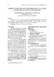 Nghiên cứu một số loại giá thể trồng hoa Cúc vạn thọ (Tagetes erecta) tại Tp. Tuy Hòa, Phú Yên