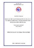 Tóm tắt Luận văn Thạc sĩ Luật học: Pháp luật Việt Nam về thẩm quyền của Tòa án và của Trọng tài đối với các tranh chấp phát sinh trong hoạt động thương mại