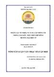 Tóm tắt Luận văn Thạc sĩ Luật học: Pháp luật về nghĩa vụ cung cấp thông tin trong giao kết, thực hiện hợp đồng thương mại điện tử