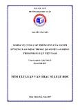 Tóm tắt Luận văn Thạc sĩ Luật học: Nghĩa vụ cung cấp thông tin của người sử dụng lao động trong quan hệ lao động theo pháp luật Việt Nam