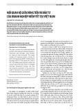 Mối quan hệ giữa dòng tiền và đầu tư của doanh nghiệp niêm yết tại Việt Nam