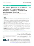 The efect of atorvastatin on infammatory markers in sulfur mustard gas induced bronchitis: A randomized double-blinded, placebo-control clinical trial