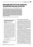 Kinh nghiệm quốc tế về cơ cấu lại ngân sách và khuyến nghị chính sách cho Việt Nam