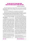Cải cách thủ tục tố tụng hành chính trong tiến trình cải cách tư pháp ở Việt Nam