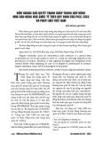 Điều khoản giải quyết tranh chấp trong hợp đồng mua bán hàng hóa quốc tế theo quy định của PICC, CISG và pháp luật Việt Nam