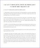 Các lưu ý trong dùng thuốc dự phòng gout và thuốc điều trị gout cấp