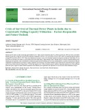 Crisis of survival of thermal power plants in India due to consistently falling capacity utilization – Factors responsible and future outlook