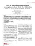 Nghiên cứu hình thái bề mặt của màng polyaniline ảnh hưởng đến hiệu suất cảm biến khí NH3 ở nhiệt độ phòng