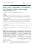 Diagnostic value of the lumbar extension-loading test in patients with lumbar spinal stenosis: A cross-sectional study