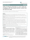 Safety of infusing rituximab at a more rapid rate in patients with rheumatoid arthritis: Results from the RATE-RA study