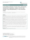 Concordance between muscle mass assessed by bioelectrical impedance analysis and by dual energy X-ray absorptiometry: A cross-sectional study
