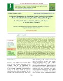 Rainwater management for sustaining cotton productivity in medium black soil under dry farming condition of Saurashtra region