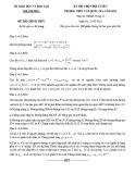 Đề thi học sinh giỏi môn Toán lớp 12 cấp quốc gia năm 2020-2021 - Sở GD&ĐT Khánh Hòa