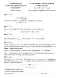 Đề thi học sinh giỏi môn Toán lớp 12 năm 2020-2021 - Trường THPT chuyên Nguyễn Du, Đăk Lắk (Vòng 2)