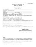 Mẫu Đề nghị tham vấn APA (Mẫu số: 01/APA-TV)