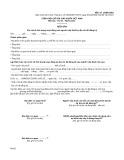 Mẫu Biên bản xác minh tình trạng hoạt động của người nộp thuế tại địa chỉ đã đăng ký (Mẫu số: 15/BB-BKD)