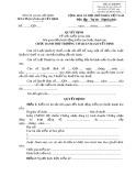 Mẫu Quyết định về việc kiểm kê tài sản liên quan đến hoạt động kiểm tra (hoặc thanh tra) (Mẫu số: 16/KTTT)