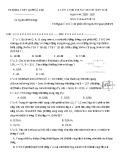 Đề thi học sinh giỏi môn Vật lí lớp 12 năm 2020-2021 - Trường THPT Quế Võ 1, Bắc Ninh
