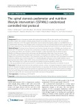 The spinal stenosis pedometer and nutrition lifestyle intervention (SSPANLI) randomized controlled trial protocol