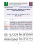 Impact of integrated nutrient management on growth and yield of Gobhi Sarson (Brassica napus L)