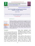 Role of food additives on functional and nutritional properties of noodles: A review