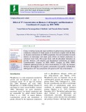Effect of 'P' concentration on biomass, cell integrity and biochemical constituents of Lyngbya sp. BDU 90901