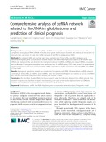 Comprehensive analysis of ceRNA network related to lincRNA in glioblastoma and prediction of clinical prognosis
