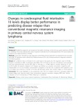 Changes in cerebrospinal fluid interleukin10 levels display better performance in predicting disease relapse than conventional magnetic resonance imaging in primary central nervous system lymphoma