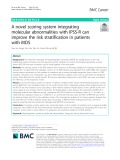 A novel scoring system integrating molecular abnormalities with IPSS-R can improve the risk stratification in patients with MDS