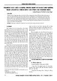 Nghiên cứu liều lượng phân đạm và kali cho giống ngô lại QT55 trên đất cát pha tại Thanh Hóa