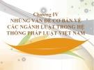 Bài giảng Nhà nước và Pháp luật đại cương – Chương 4.1: Những vấn đề cơ bản về các ngành luật trong hệ thống pháp luật Việt Nam (Luật Hiến pháp Việt Nam)