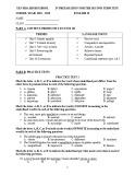 Đề cương ôn tập học kì 2 môn Tiếng Anh lớp 10 năm 2019-2020 - Trường THPT Yên Hòa