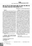 Một số yếu tố liên quan đến sự tuân thủ điều trị của bệnh nhân đái tháo đường týp 2