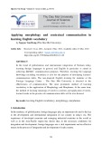 Applying morphology and contextual communication in learning English vocabulary