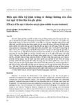 Hiệu quả điều trị bệnh trứng cá thông thường của cốm tan ngũ vị tiêu độc ẩm gia giảm