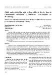 Chiết xuất, phân lập một số hợp chất từ lá cây bao tử (Murdannia bracteata (C.B.Clarke) J.K.Morton ex D.Y.Hong)